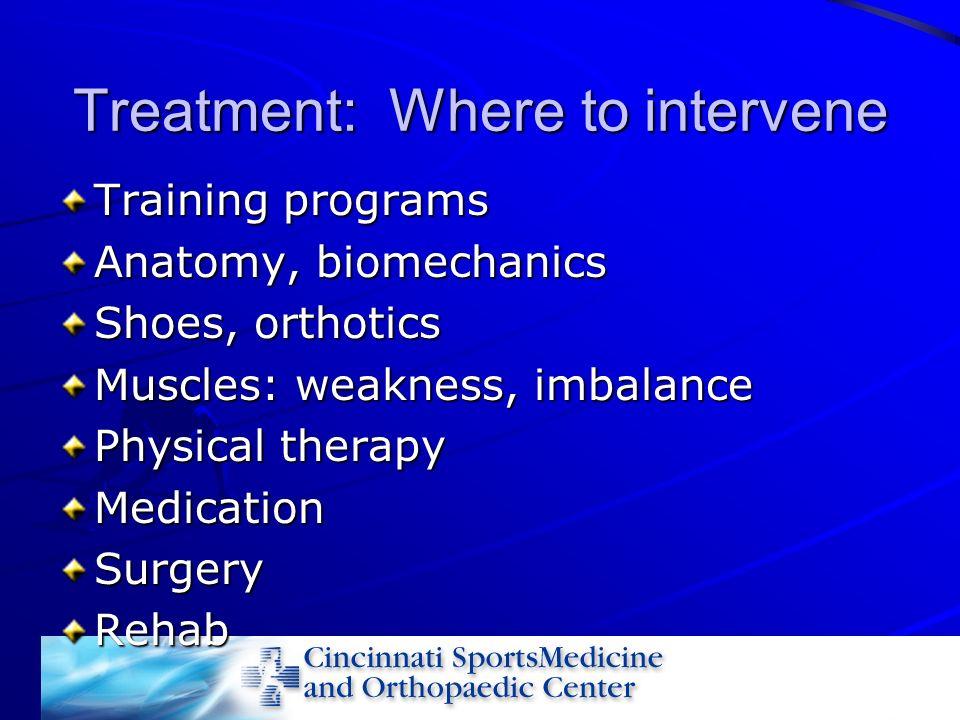 Treatment: Where to intervene