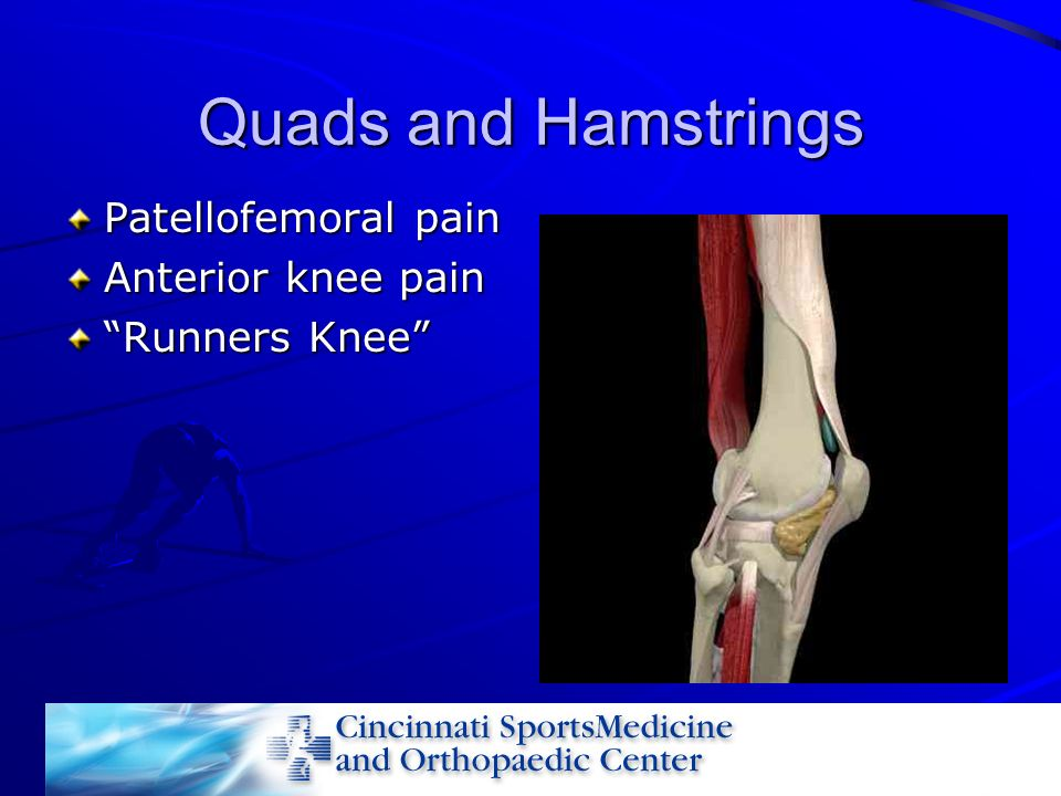 Quads and Hamstrings Patellofemoral pain Anterior knee pain