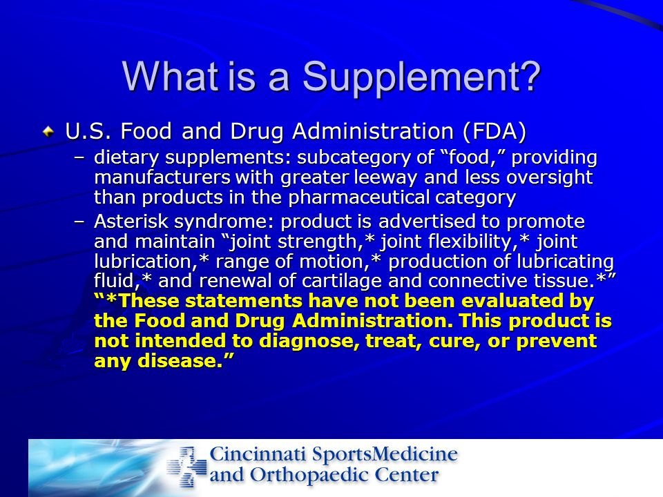 What is a Supplement U.S. Food and Drug Administration (FDA)