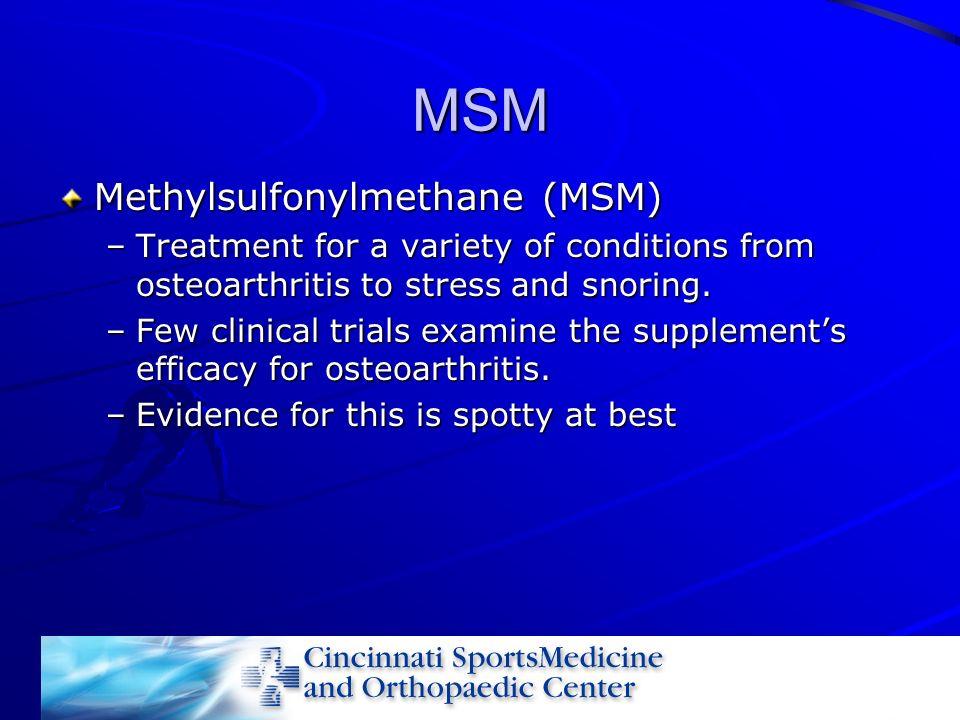 MSM Methylsulfonylmethane (MSM)