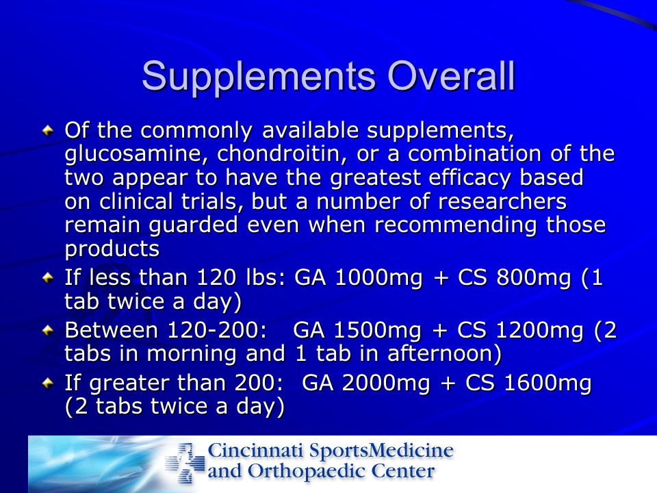 Supplements Overall