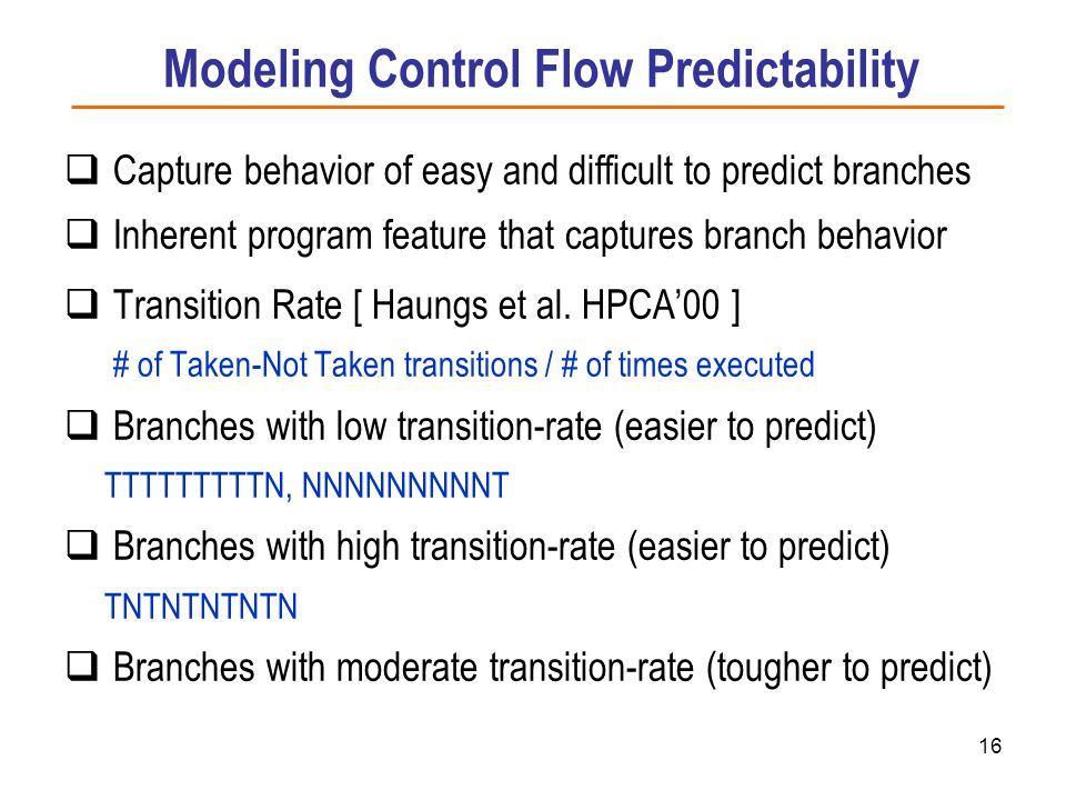 Modeling Control Flow Predictability