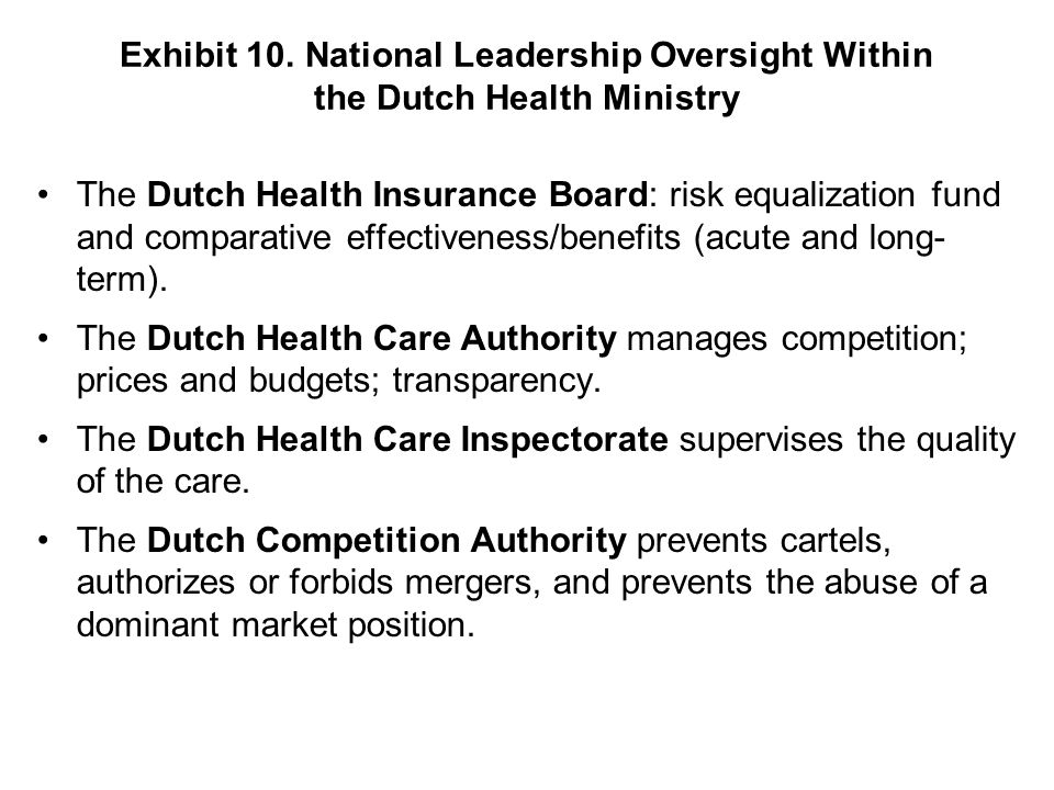 The Dutch Health Care Inspectorate supervises the quality of the care.