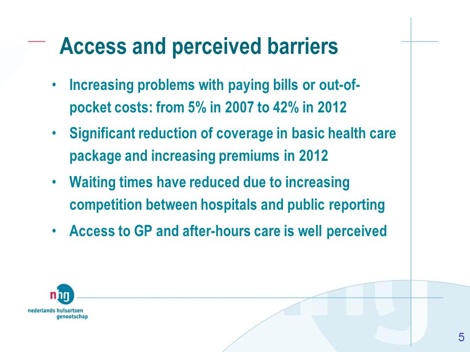 Access and perceived barriers