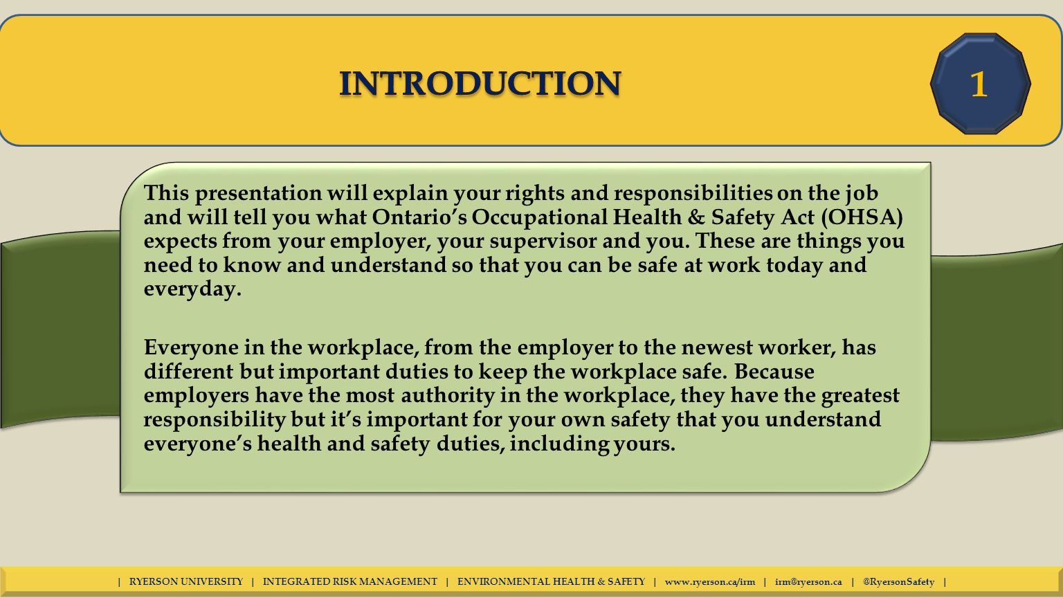 Summary of the Occupational Safety and Health Act