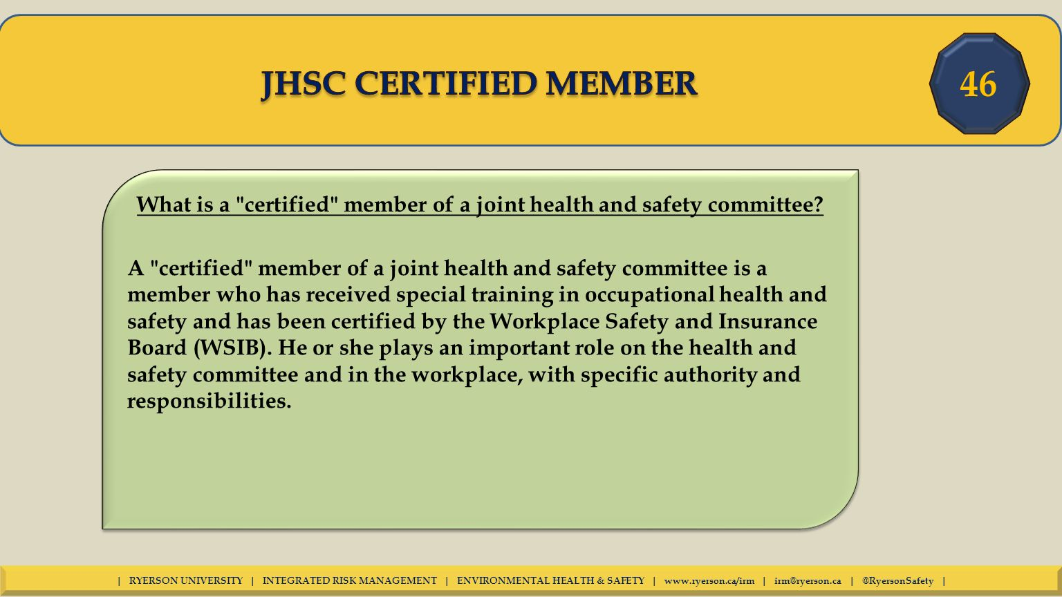 Introduction this presentation will explain your rights and what is a certified member of a joint health and safety committee xflitez Gallery