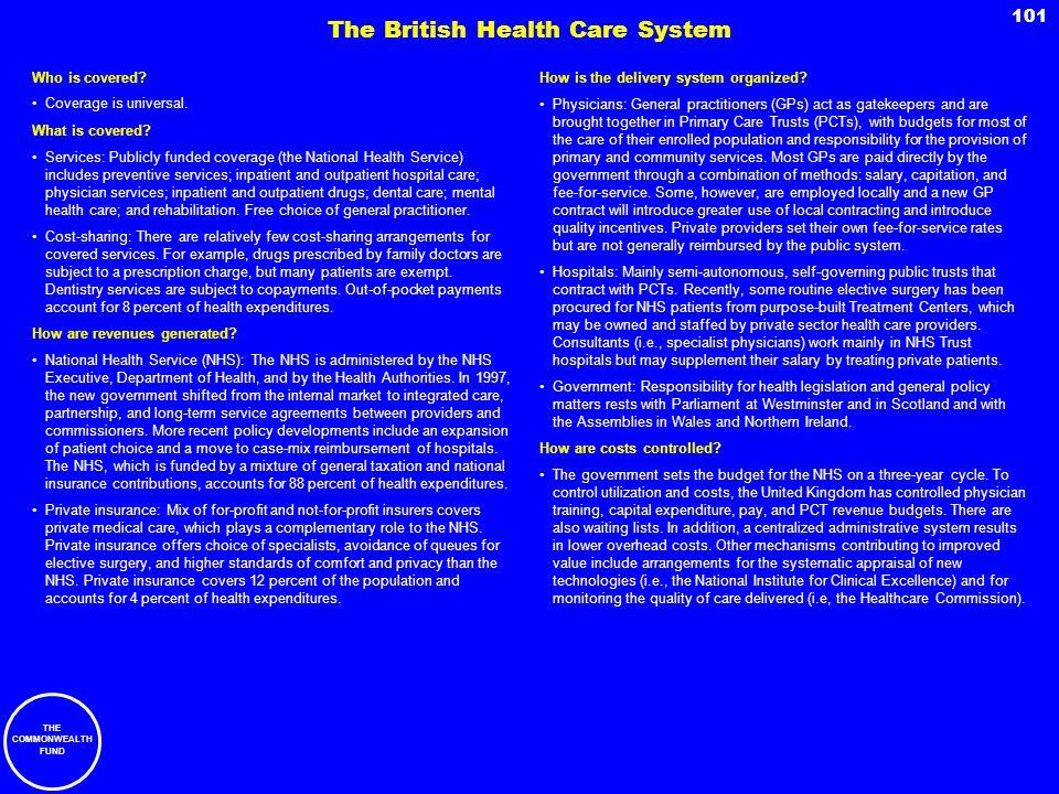The British Health Care System