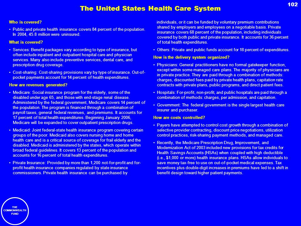 The United States Health Care System