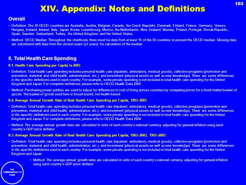 XIV. Appendix: Notes and Definitions