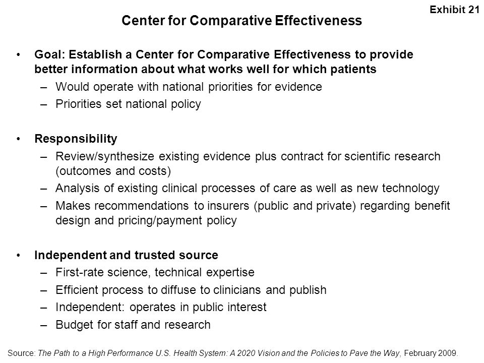 Center for Comparative Effectiveness