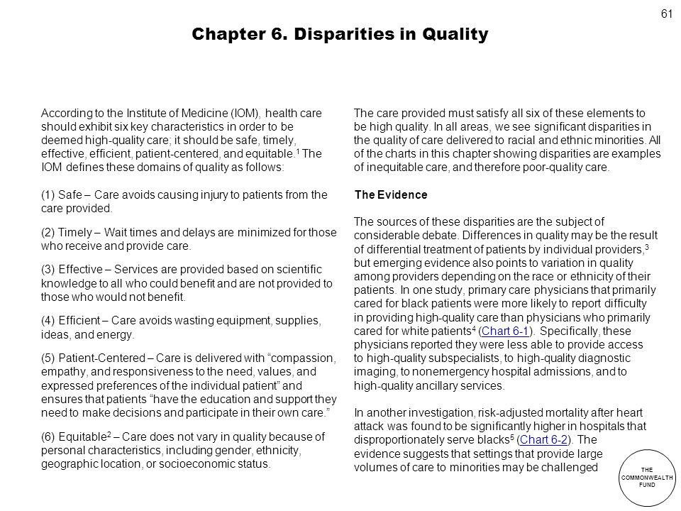 Chapter 6. Disparities in Quality