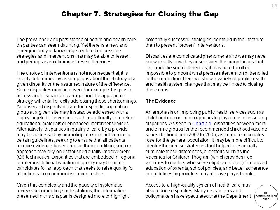 Chapter 7. Strategies for Closing the Gap