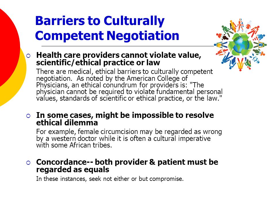 Barriers to Culturally Competent Negotiation