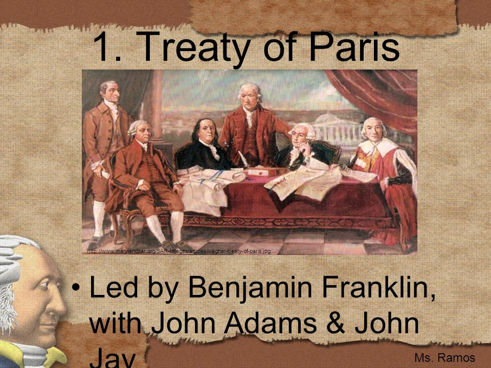 the treaty of paris Signing of the treaty of paris: top of page when the british heard of the surrender at yorktown, the house of commons was in an uproar.