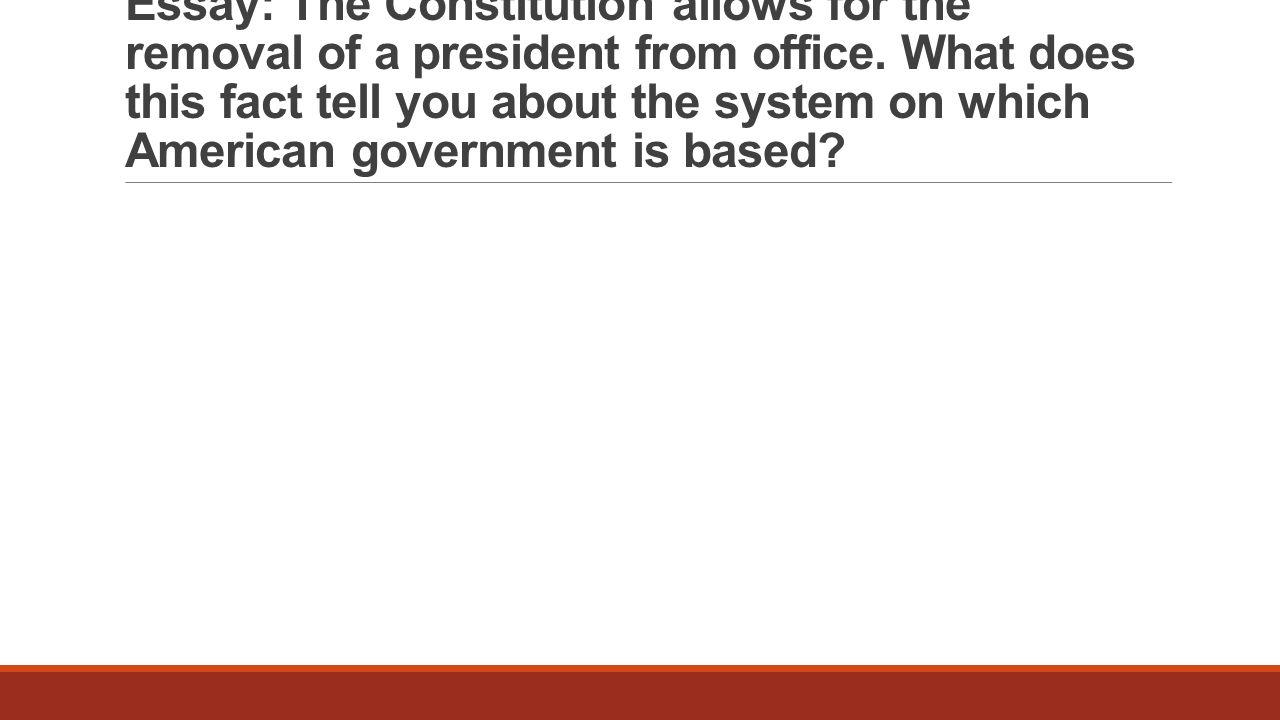 the office of the presidency essay Free essay: the evolution of the power of the presidency the views of the  presidency by  the power of the office expanded through the years, however it  only.