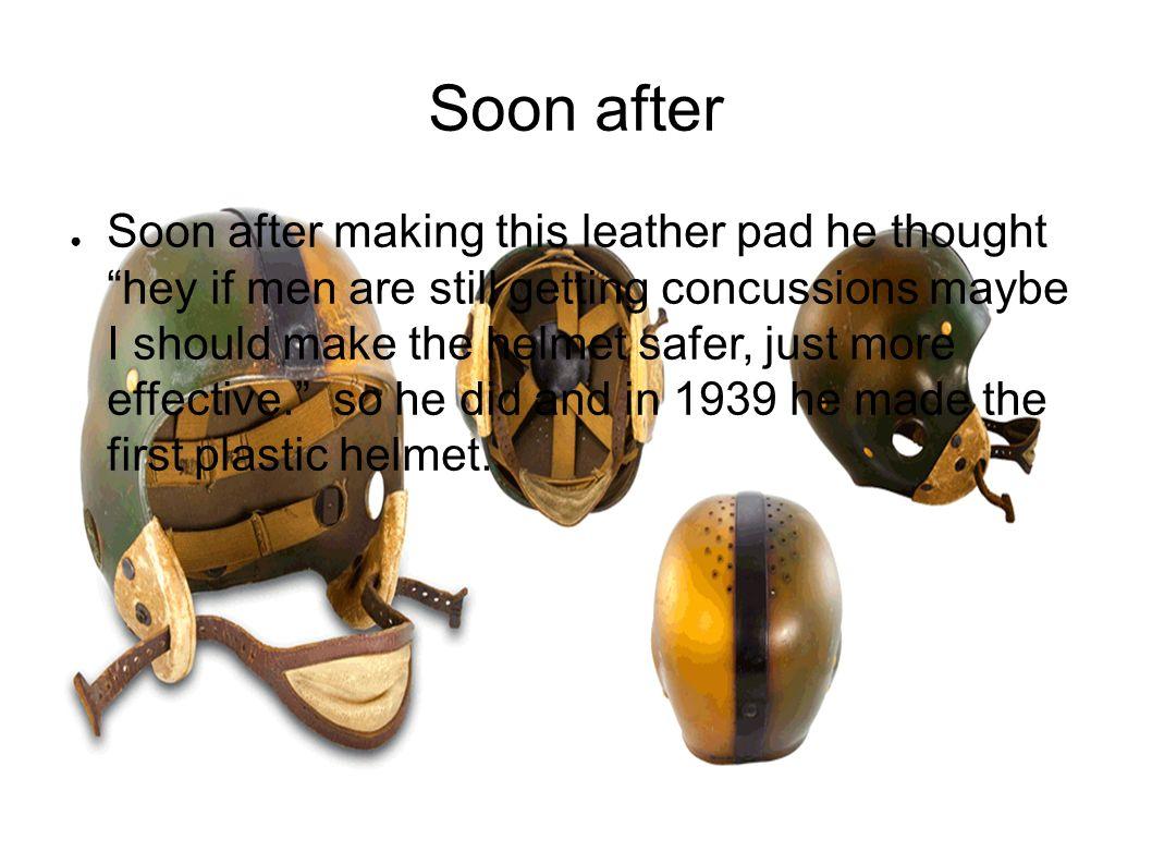 evolution on football helmet