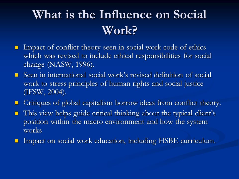 how does conflict theory affect the approach to social change within the family The sociology of education is a subfield of  the conflict theory approach to education examines  capital necessary for social mobility within.