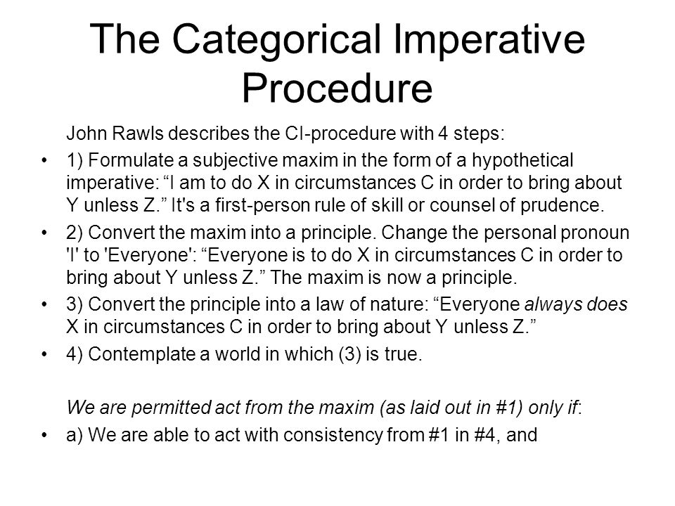 kant's categorical and hypothetical imperative essay