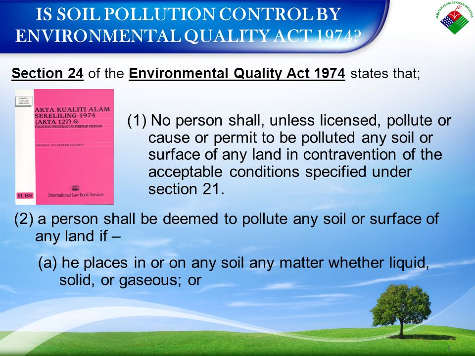 eqa 1974 The current environmental quality act 1974 is insufficient to deal with the new  and complex environmental issues in malaysia file pic by.