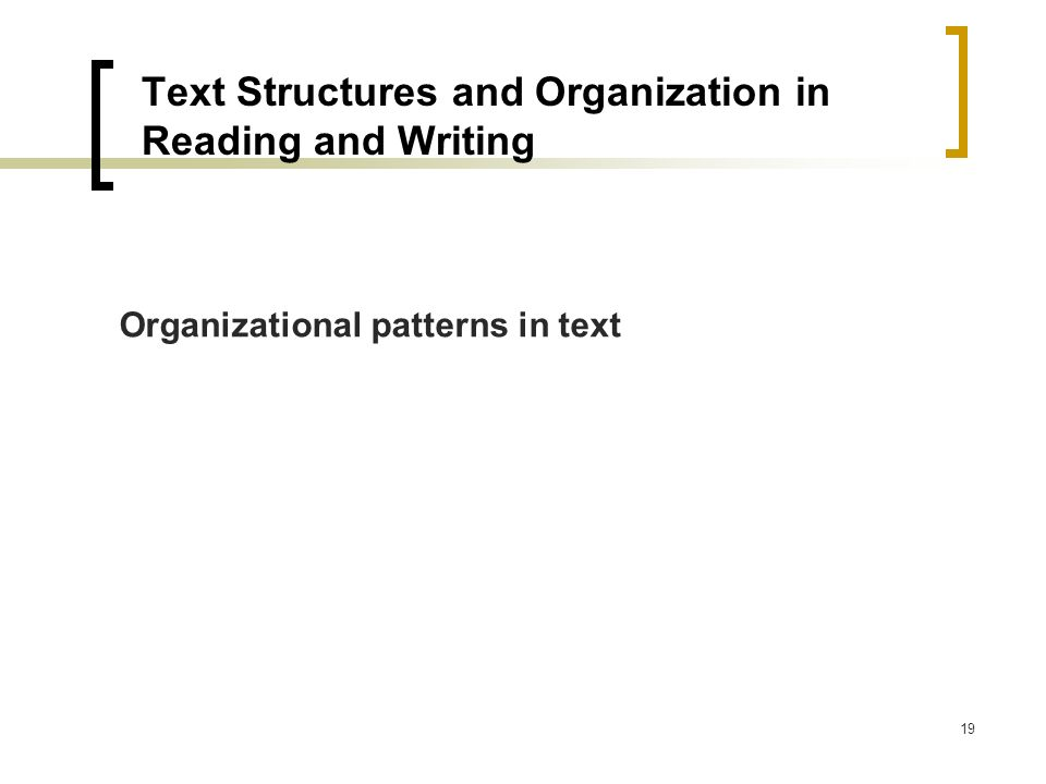 The text structure of an essay is the
