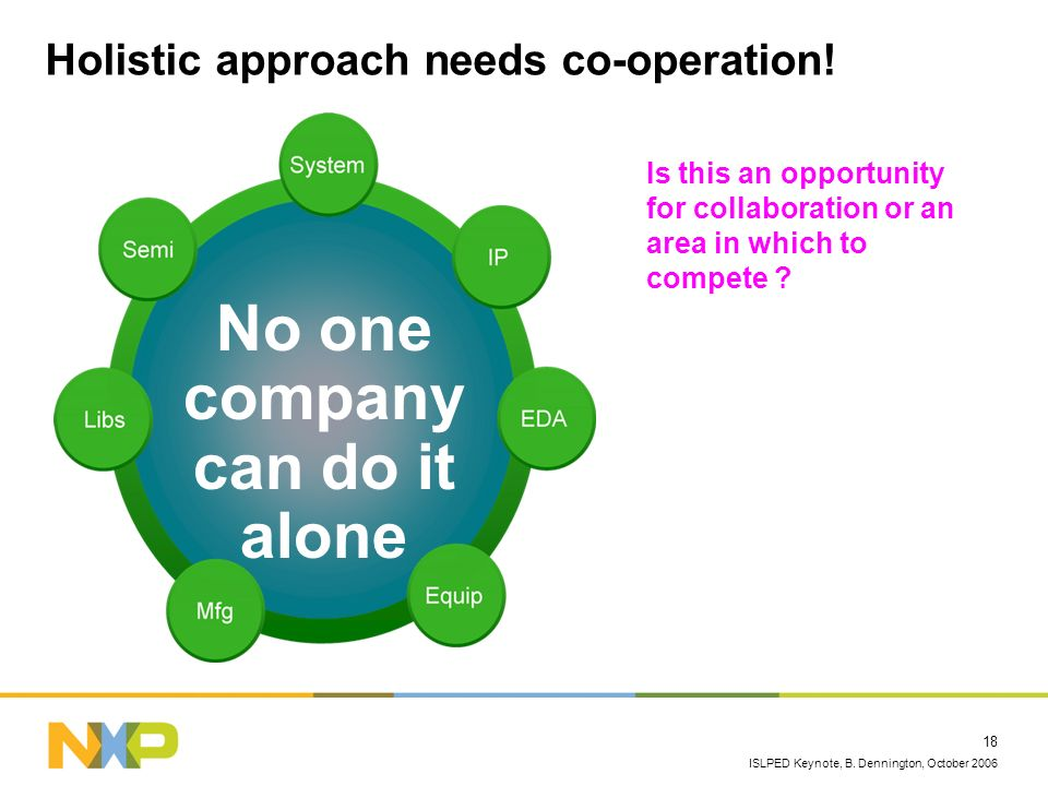 Holistic approach needs co-operation!