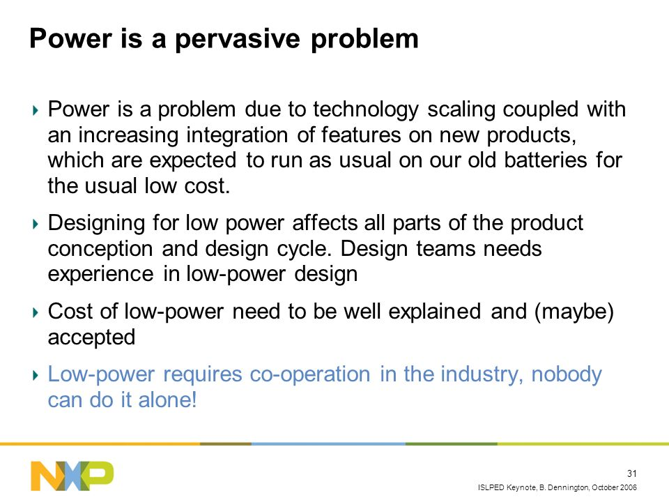 Power is a pervasive problem