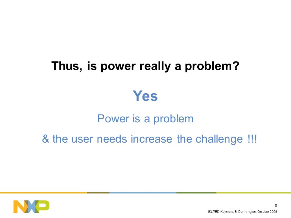 Thus, is power really a problem