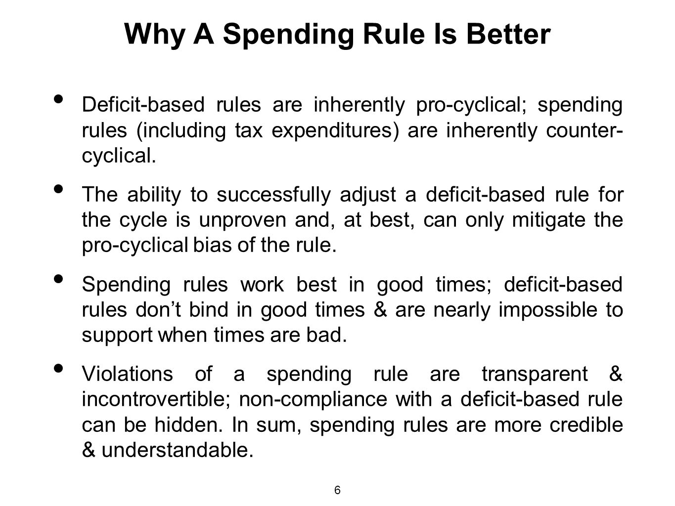 Why A Spending Rule Is Better