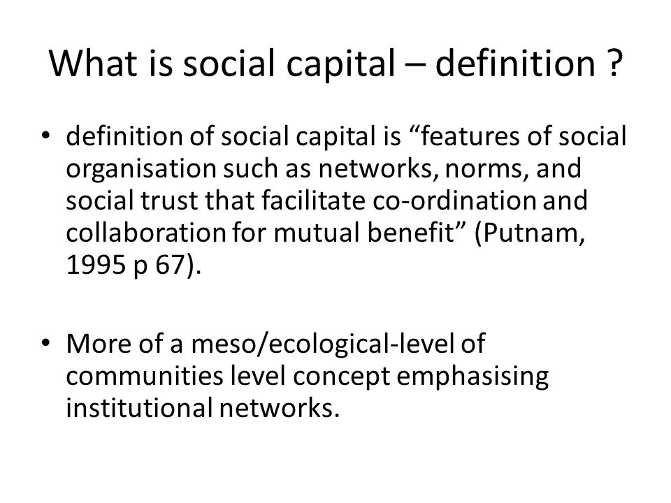 social capital collaboration 2 0 Bis ch 8 study play 1) e _____ is the application of web 20 technologies, collaboration social capital can be gained by limiting ones friends but.