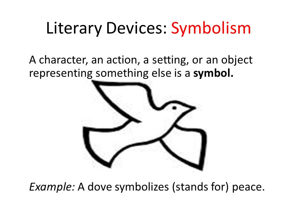 Literary significance through symbolism in the
