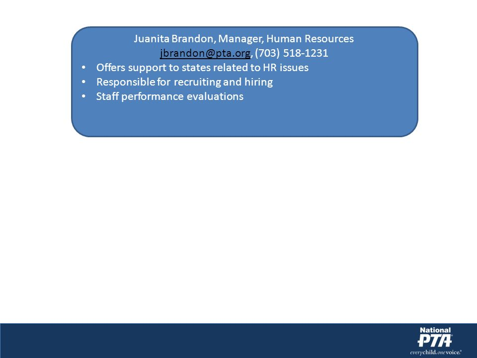 Juanita Brandon, Manager, Human Resources