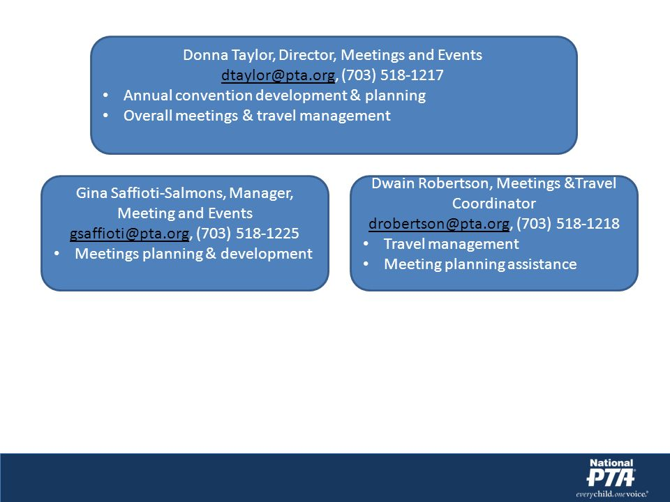Donna Taylor, Director, Meetings and Events