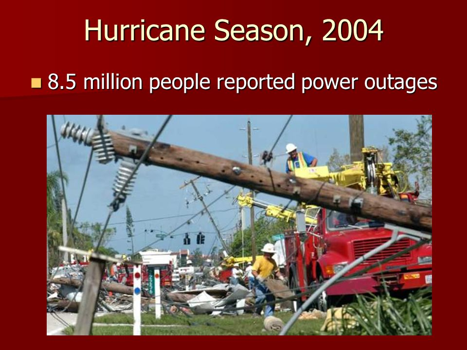 8.5 million people reported power outages