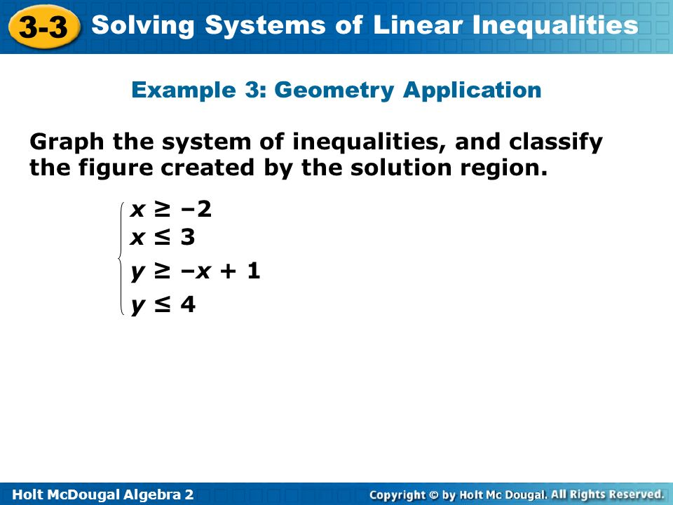 Example 3: Geometry Application