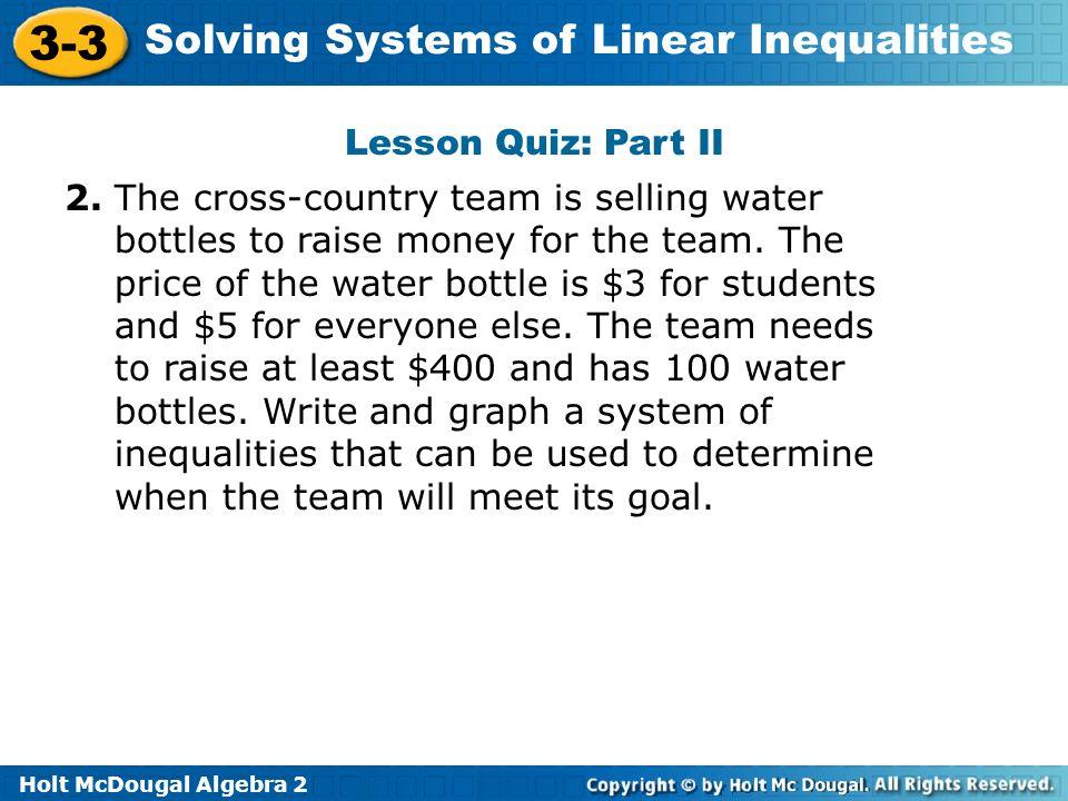 Lesson Quiz: Part II