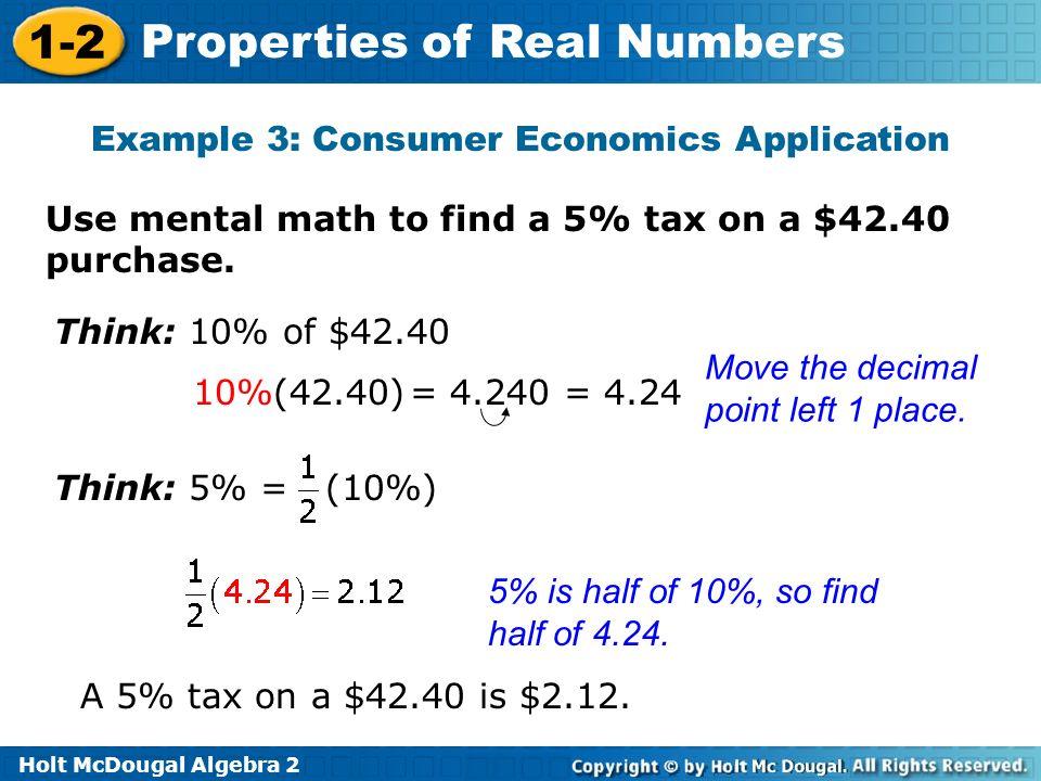 Example 3: Consumer Economics Application