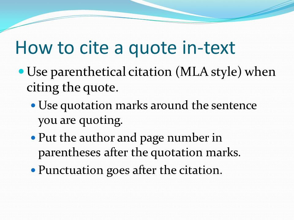 How to cite a quote in-text