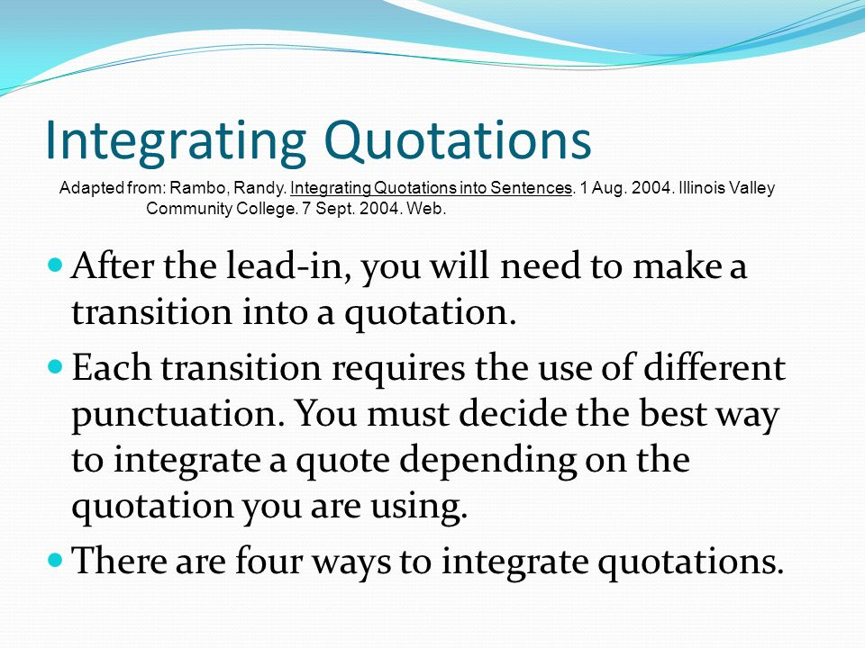 quotations in writing an essay