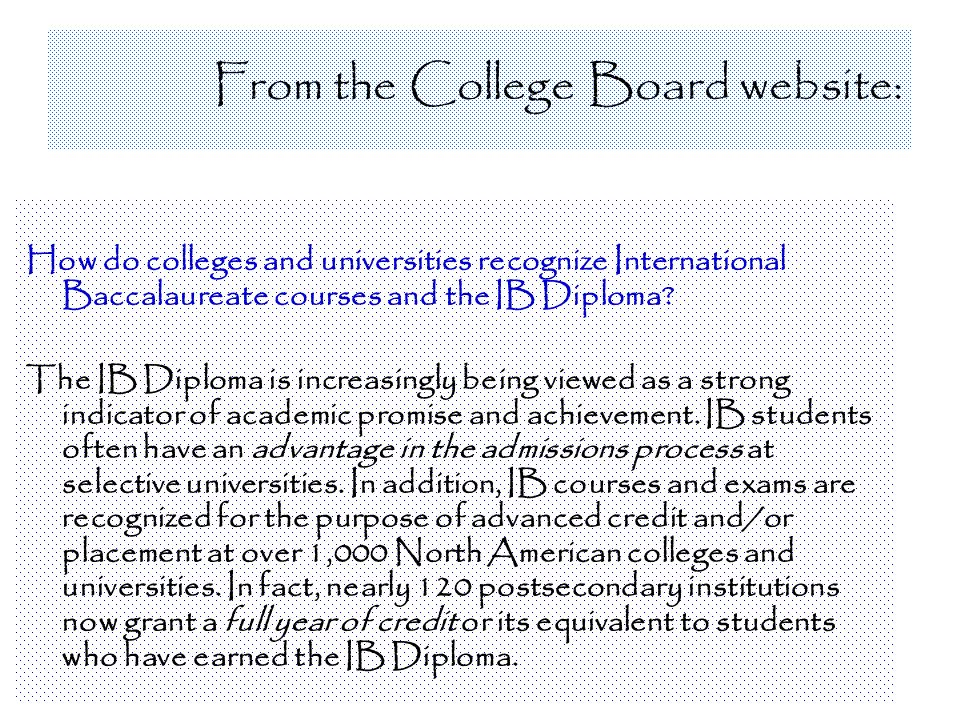 From the College Board website: