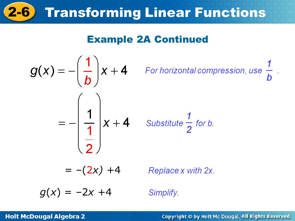 Example 2A Continued = –(2x) +4 g(x) = –2x +4