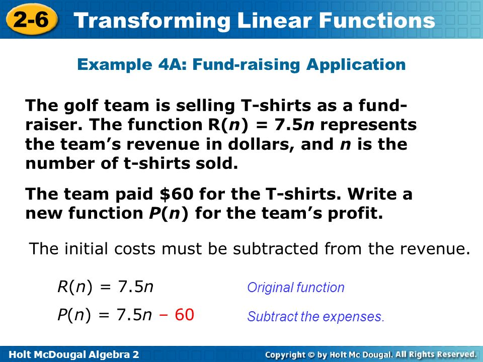 Example 4A: Fund-raising Application