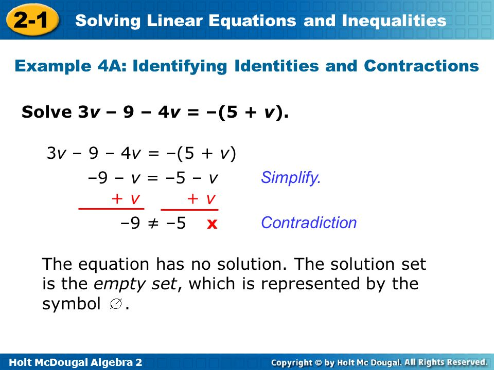 Example 4A: Identifying Identities and Contractions