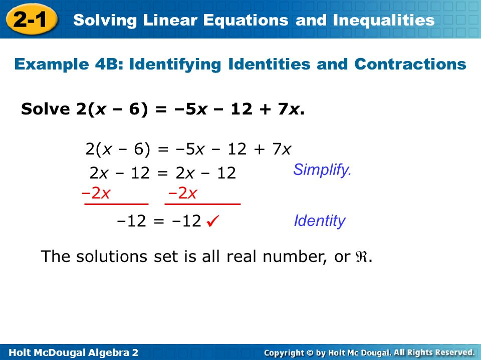 Example 4B: Identifying Identities and Contractions