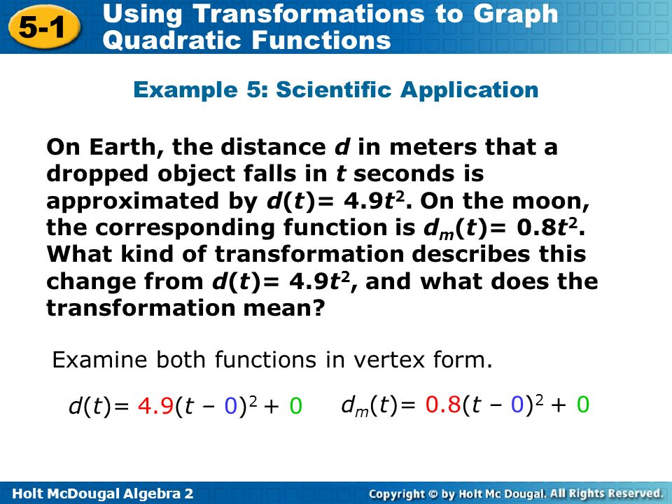 Example 5: Scientific Application