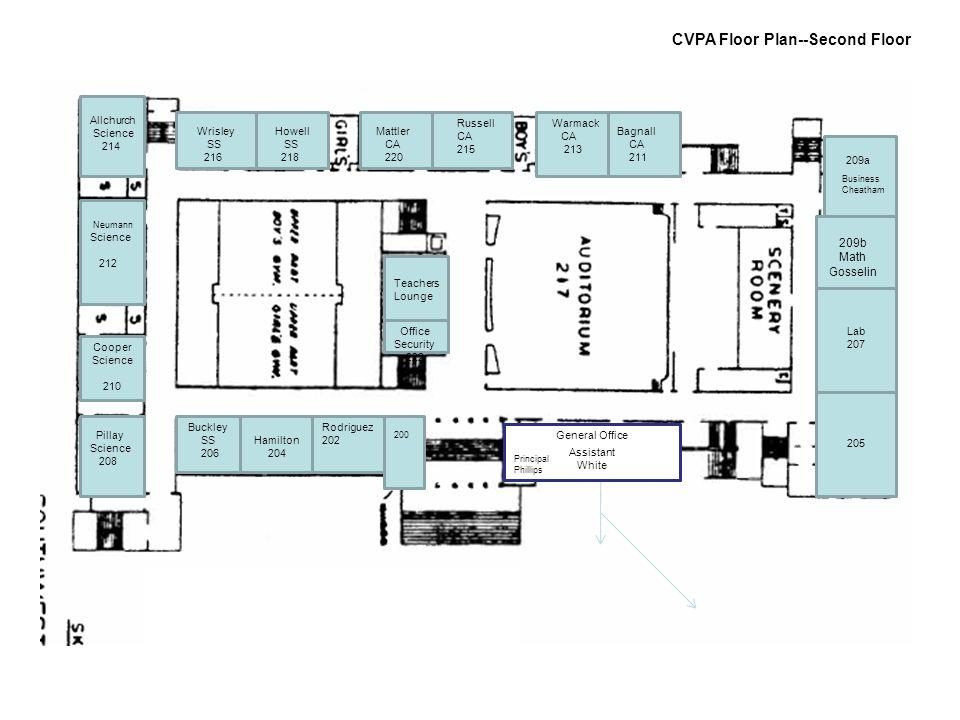 CVPA Floor Plan--Second Floor