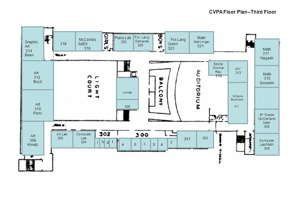 CVPA Floor Plan--Third Floor