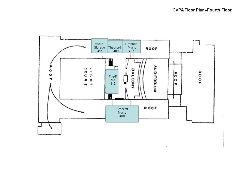 CVPA Floor Plan--Fourth Floor