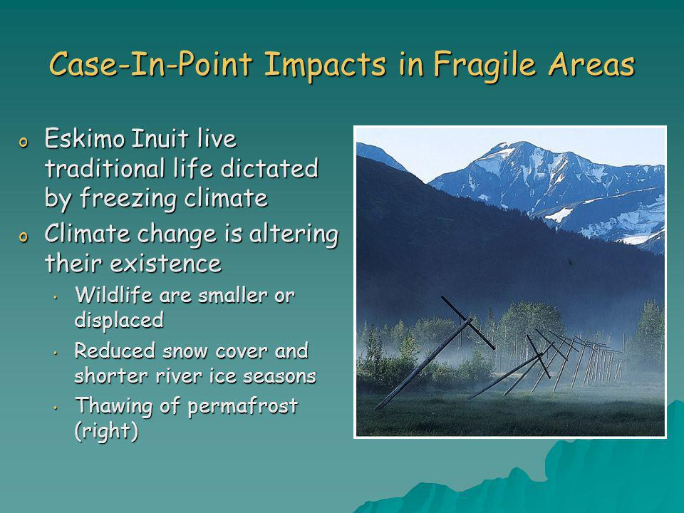 Case-In-Point Impacts in Fragile Areas