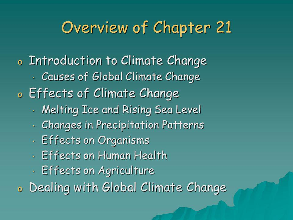 Overview of Chapter 21 Introduction to Climate Change