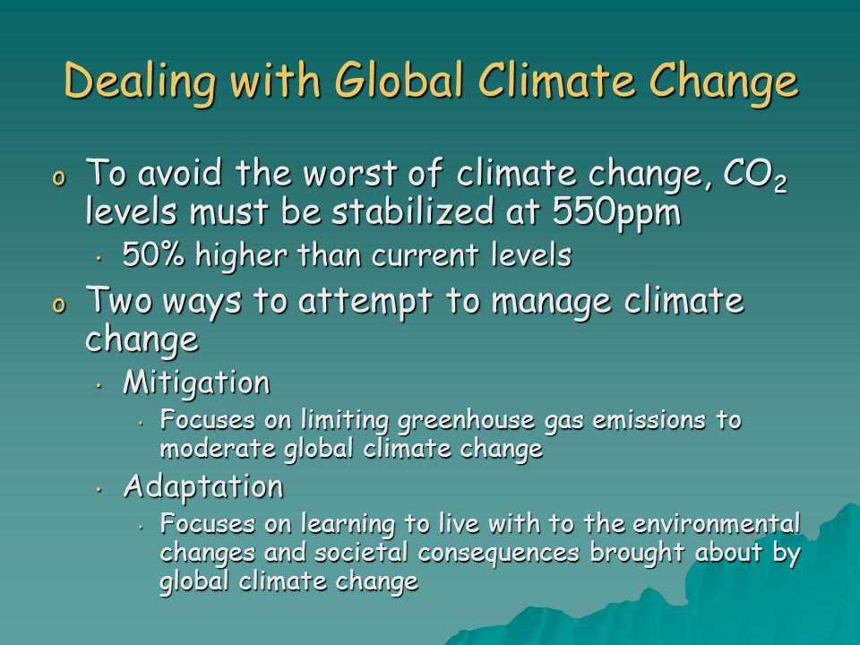 Dealing with Global Climate Change